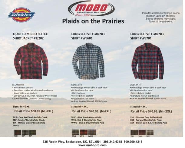 Plaid on the Prairies catalogue
