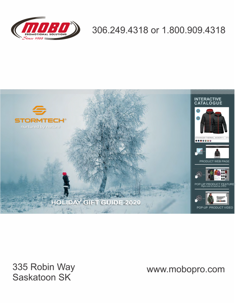 Stormtech Holiday Gift Guide 2020 catalogue